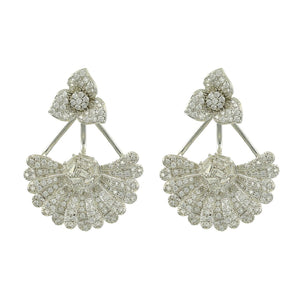 Flower Attached Earrings