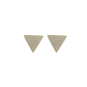 Supra Pyramid Shape Triangle Earrings