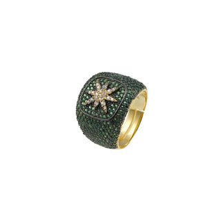 Central Star Pinky Ring