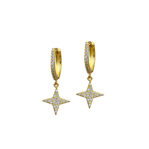 Mini Shy Star Huggies Earrings