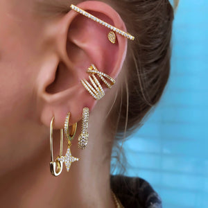 Casual Style Pin Earrings