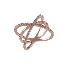 Sea Crossed Lines Ring
