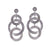 Royal Circles Drop Earrings