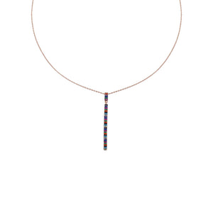 Thin Bright Stick Necklace
