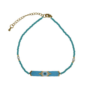 All Seeing Eye Caslina Beaded Anklet