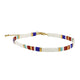 Sanvi White Mix Beaded Anklet