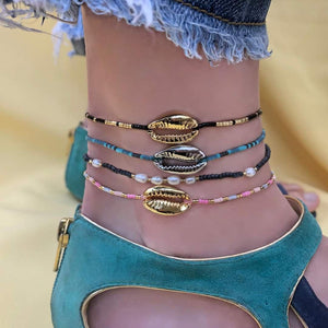 Bryona Shells Beaded Anklet