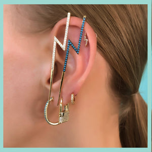 Bright Lock Single Earring