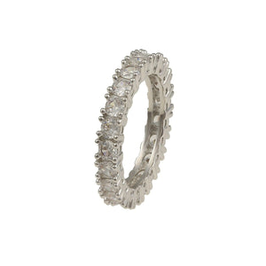 Pave Cut Alliance Ring