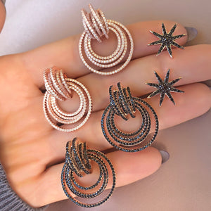 Circles Within Earrings