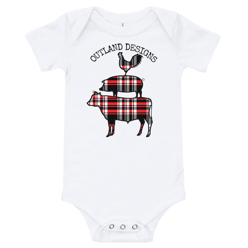 Outland Designs Plaid Animals Onesie