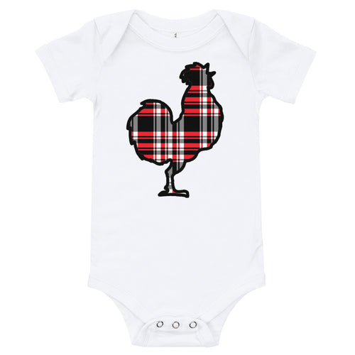 Outland Designs infant plaid chicken onesie