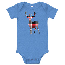 Load image into Gallery viewer, Outland Designs infant plaid deer onesie