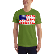 Load image into Gallery viewer, Mens BBQ flag tee