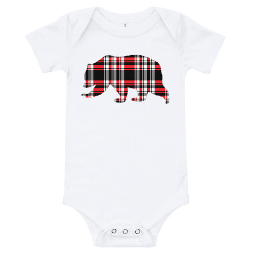 Outland Designs infant plaid bear onesie