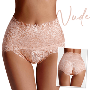 High Waisted Seamless Lace Panty (4PCS)
