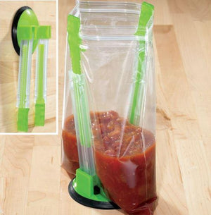 Baggy Rack Food Bag Holder - makegoodies