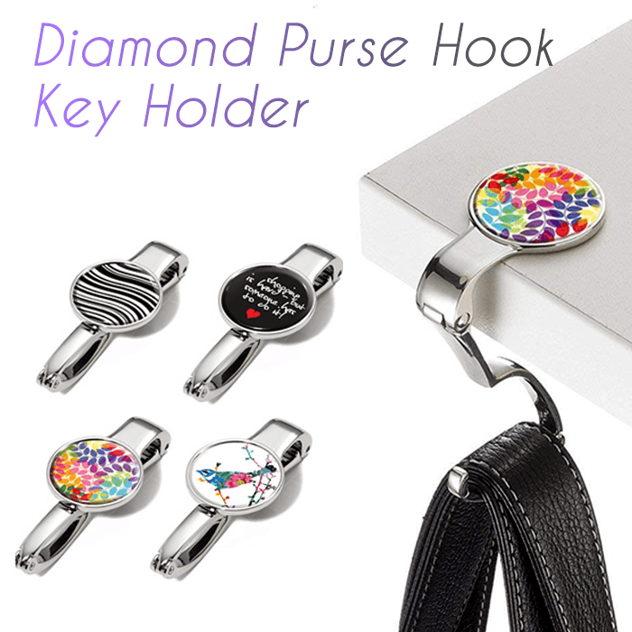 Diamond Purse Hook Key Holder