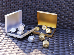 Aluminium Gold/Silver Dice - makegoodies