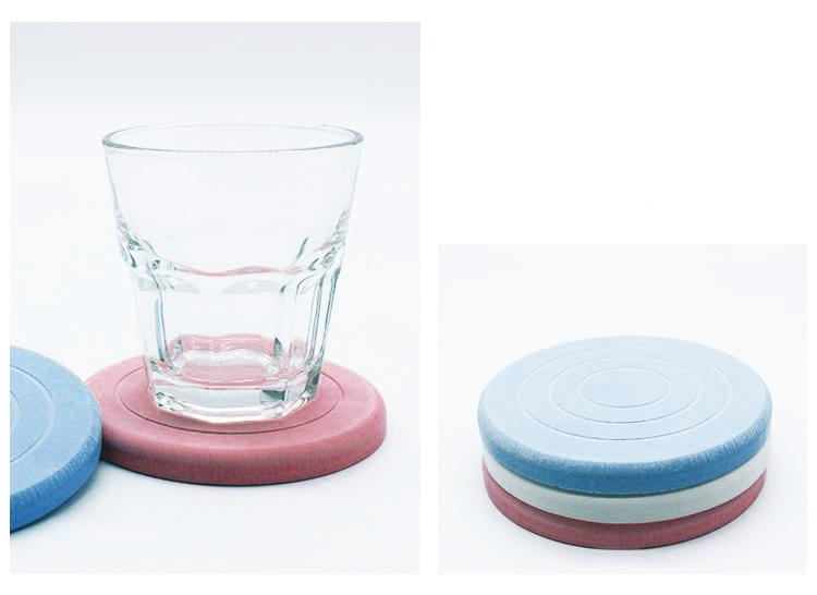 Water Absorbing Diatomate Cup Coaster (2 pieces)
