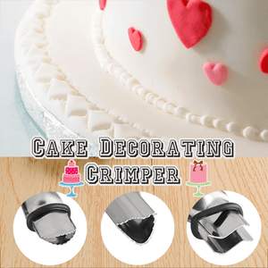 Stainless Steel Cake Decorating Crimpers (Set of 3) - makegoodies