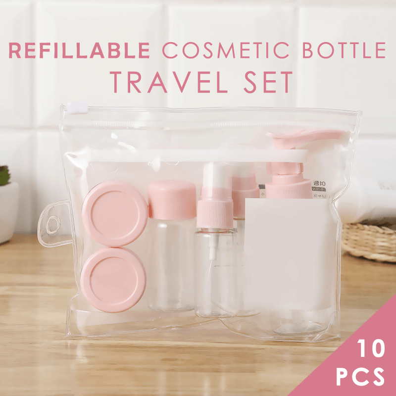 Refillable Cosmetic Bottles Travel Set (10PCS)