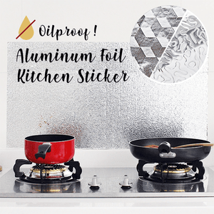 Oilproof Aluminum Foil Kitchen Sticker
