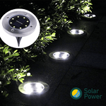 Solar Power Floor Path LED Light ( 4 pcs ) - makegoodies