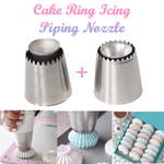 Cake Ring Icing Piping Nozzle (Set of 2)
