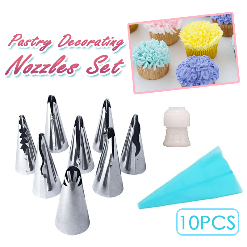 Pastry Decorating Nozzles Set (10PCS)