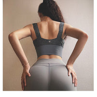 High support Sports bra women's shockproof Running Underwear Qast drying Workout Gym Sexy Yoga top