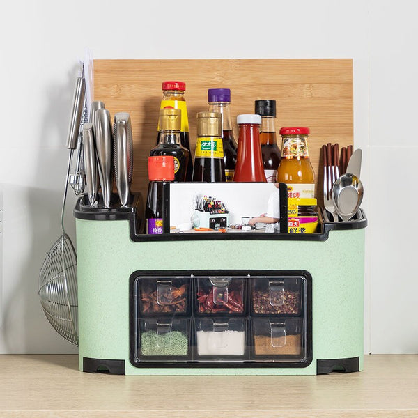 Fashion multi-functional kitchen shelf