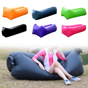 Inflatable Beach Sleeping Bag Folding Sofa Outdoor Camping Travel Relax Air Sleeping Bed Lazy Air Bag