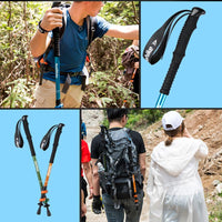 NatureHike Ultralight EVA Foam Handle 3-Section Adjustable Aluminum Alloy Canes Walking Sticks Hiking Trekking Camping Equipment