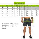Men's 2 in 1 Joggers Shorts Security Pockets Leisure Sporting Shorts Built-in Pockets Hips Hiden Zipper Pockets Fitness Shorts