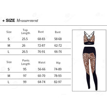 Leopard Sportwear Gym Yoga Suit Breathable Sleeveless Fitness Running Workout Mujer Yoga Set Gym Clothes
