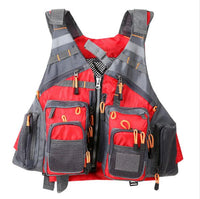 Outdoor Sport Fishing Life Vest Men Breathable Swimming Life Jacket Safety Waistcoat Survival Utility Vest