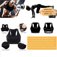 Top Women Sports Bra with Phone Pocket Compression Push Up Underwear Top Female Gym Fitness Running Yoga Bh Sport Bra XL