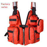 Detachable Adult Life Jacket Vest Aid Sailing Surfing Fishing Kayak Boating Outdoor Sports With Many Pockets Life Jacket