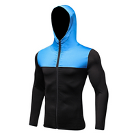FANNAI Mens Running Jackets Fitness Sports Coat Soccer outdoor Training Gym corset hooded Thin Quick Dry Reflective zipper