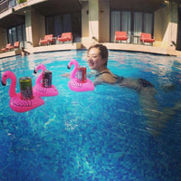 Flamingo Drink Holder Pool Float Inflatable Swim Beverage Holders For Phone Cup