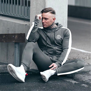 Sport Man Tracksuit Running Gym Men Set Sport Clothing Set Joggers Fitness Bodybuilding Sports Suits Mens Hoodie+Pants Suit Men