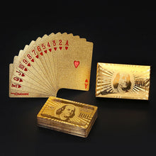 Waterproof Luxury Platinum Foil Poker Playing Cards Gold Plated Porker Cards