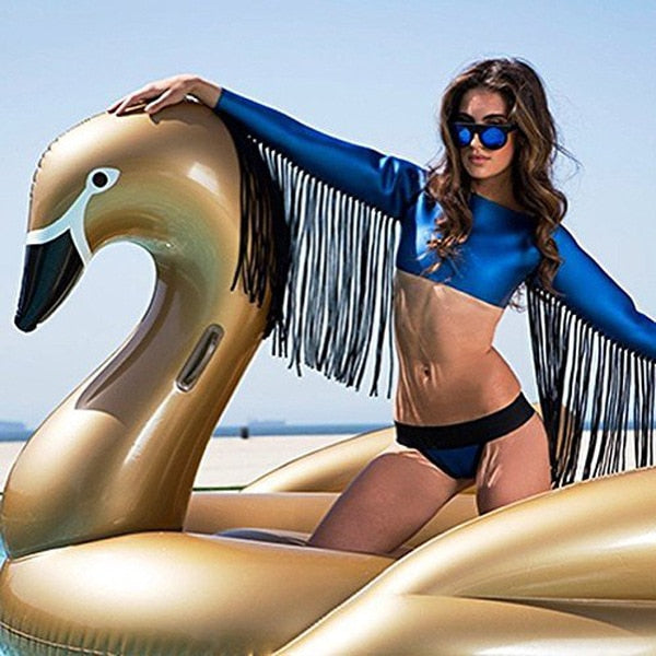 Giant White Swan Inflatable Pool Float