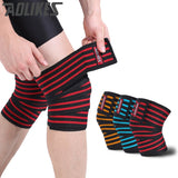 AOLIKES 1pcs 180*8cm Knee Wraps Men's Fitness Weight Lifting Sports Knee Bandages Squats Training Equipment Accessories for Gym