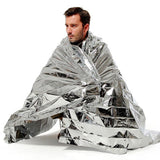 Outdoor Water Proof Emergency Survival Rescue Blanket Foil Thermal Space First Aid Sliver Rescue Curtain Military