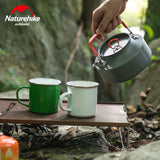 Naturehike Outdoor Ultralight Kelttle Boiling Water Coffee Pots with handle Aluminum Tea Pot for Camping Hiking Fishing 1.1L