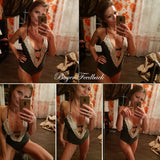 One Piece Swimsuit Sexy Swimwear Women Bathing Suit Swim Vintage Summer Beach Wear Print Bandage Monokini Swimsuit