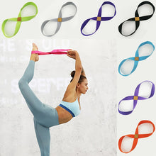 Yoga Stretch Strap Belt 8-shaped Women Pull Up Bands Belt Rope for Wrist Training Gym Pilates Physical Therapy Fitness Equipment