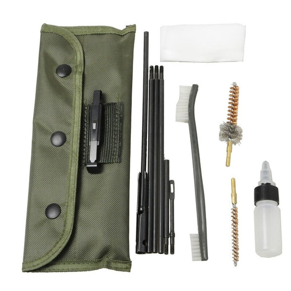 Airsoft M4 M16 Rifle Gun Cleaning Kit 10 Pieces .22 .30cal 5.56mm Brushes Set Clean Rod Convenient Nylon Case Hunting Accessory